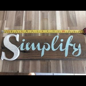 Other - Simplify Sign